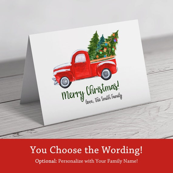 image 0 - Personalized Christmas Cards No Photo