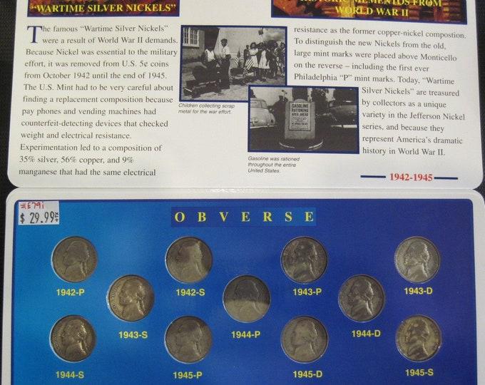 Complete Silver Jefferson War Nickel Set #E79i