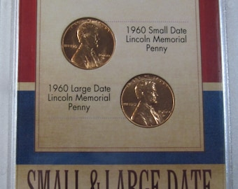 1960 Brilliant Uncirculated Small Date and Large Date Lincoln Memorial Penny (#E612d)