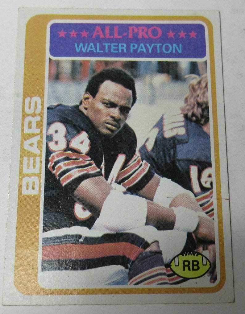 1978 Walter Payton Topps #200 #E72D