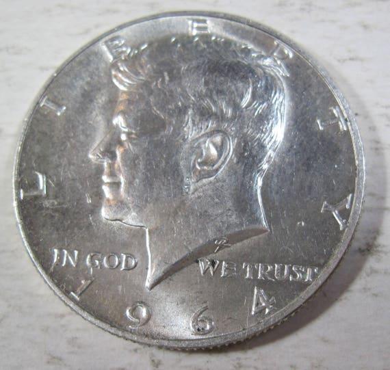 1964 90/% Silver Kennedy Half Dollar Free Shipping