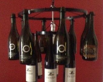2 tier 21 Wine Bottle Chandelier Wine Rack pendant style