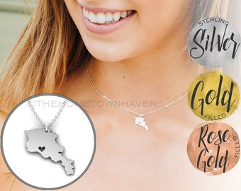 Armenia Necklace - I heart Armenia, Lady Armenia necklace