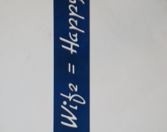 "CNC Plasma ""Happy Wife = Happy Life"" Metal Sign Powder Coated or Raw Steel"