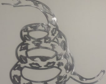 Gadsden Snake Dont Tread On Me Metal Sign Powder Coated or Raw Steel