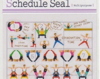 Gymnastics Schedule Stickers - Planner Stickers - Mind Wave - Reference A4456-57