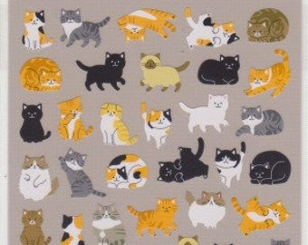Cat Stickers - Neko Stickers -  Japanese Stickers - Mind Wave Stickers - Reference A6285