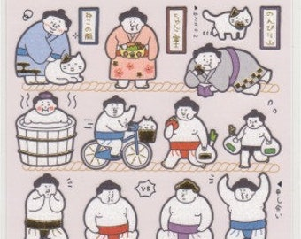 Sumo Stickers - Paper Stickers - Reference A6407-08