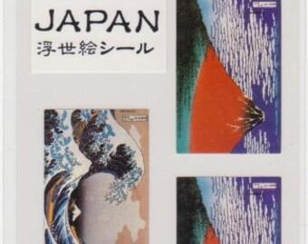 Ukiyoe Stickers - Japanese Stickers - Mt Fuji - Reference A4436-40