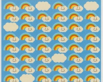 Rainbow Stickers - Cloud Stickers - Weather Stickers - Kawaii Japanese Stickers - Reference *C600