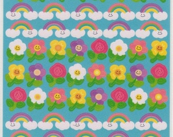 Rainbow Stickers - Flower Stickers - Reference C6162-64