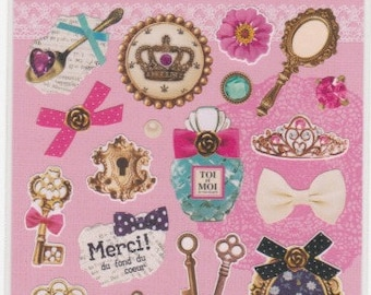 Crown and Key Stickers - Petit Poche Stickers - Mind Wave - Reference A5511-13