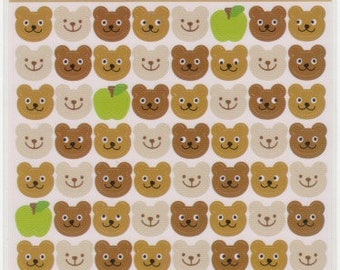 Bear Stickers - Kawaii Japanese Stickers - Reference *C3763-64C5284-85