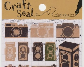 Camera Stickers - Craft Seal Stickers - Mind Wave Stickers - Reference A4503-04