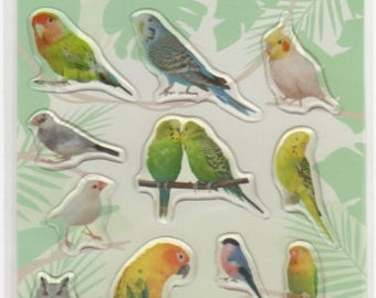 Bird Stickers - Raised Stickers - Reference A5621-22