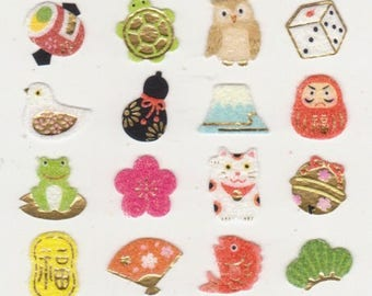 Lucky Japanese Stickers - Reference A6357A6447