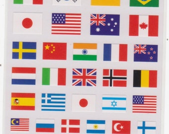 Flag Stickers - Mind Wave Stickers - Reference A6114