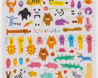 Animal Stickers - Yuru Animals - Japanese Stickers - Mind Wave Stickers - Reference S5723U5739A6810