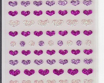 Heart Stickers - Heart Glitter Stickers - Mind Wave Stickers - Reference F516F712F1499A5521-22