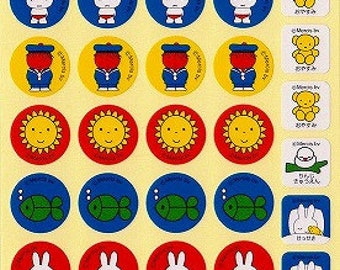 Miffy Stickers - Style 8 - Small Schedule Planner Stickers - Reference A6341