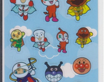 Anpanman Stickers- Clear Stickers - Blue - Reference U5745-46