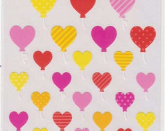 Heart Balloon Stickers - Mind Wave Stickers - Reference A1292