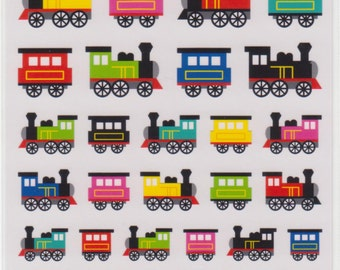 Train Stickers - Mind Wave Stickers - Reference M6650-52