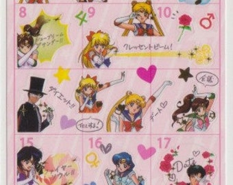 Sailor Moon Schedule Stickers - Reference A6668