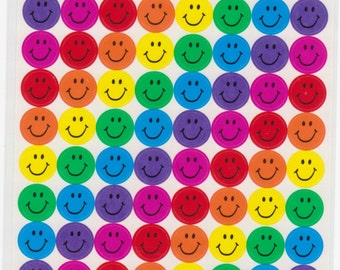 Smiley Face Stickers - Reference A1031-32A6427-28