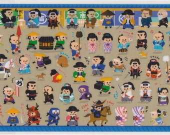 Samurai Stickers - Japanese Stickers - Mind Wave - Reference L6734-36