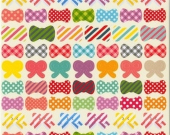 Ribbon Stickers - Japanese Stickers - Reference C1102-03C5134-35