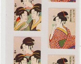 Ukiyoe Stickers - Japanese Stickers - Reference A3297-98A3710-11
