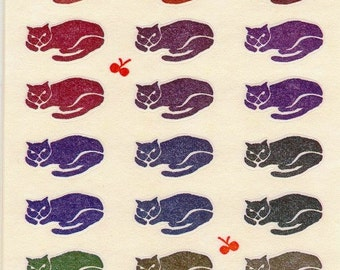 Cat Stickers - Paper Stickers - Reference A3174-81