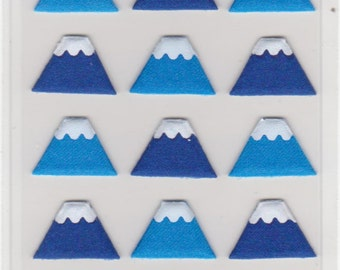 Mt Fuji Stickers - Fabric Stickers - Mind Wave Stickers - Reference H2972