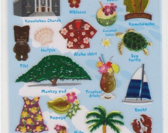 Hawaiian Stickers - Hibiscus Stickers - Mind Wave - Reference A2979-80