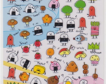 Onigiri Stickers - Bento Stickers - Japanese Stickers - Mind Wave Stickers - Reference A5261-62A5462A6357-58A6817-18