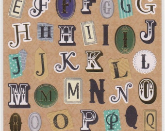 Alphabet Stickers - Material Stickers - Petit Poche Mind Wave Stickers - Reference M4341-42
