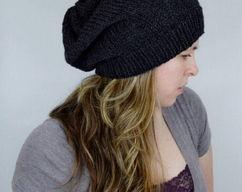 Slouchy Hat, Slouchy Knit Hat Beanie, Baggy Hat, Slouch Beanie Hipster Beanie Oversized Beanie, Slouchy Beanie, Boho Beanie Knit Slouchy Hat