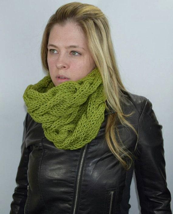 Stricken Kabel Winter Schal Kutte Moos Hals wärmer klobige | Etsy