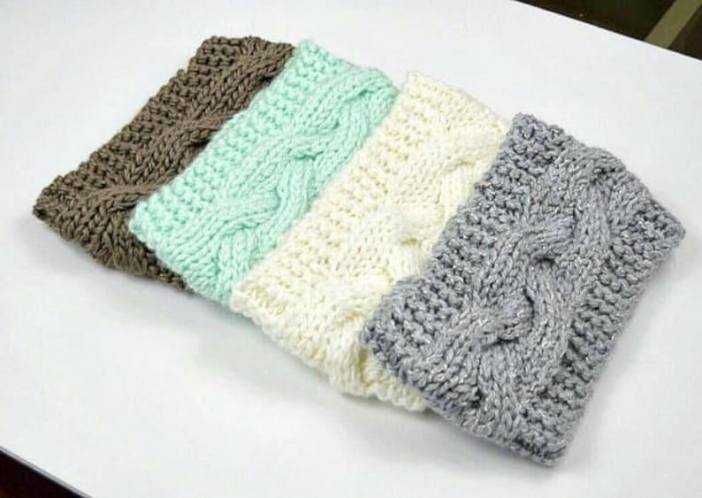 Knit Headband Braided Head Band Ear Warmer Knit Crochet image 0