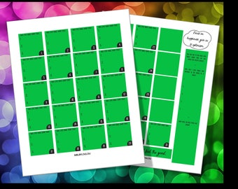 Big Happy Planner Monthly Layout - Journaling, 3 Good Things Daily (Green)