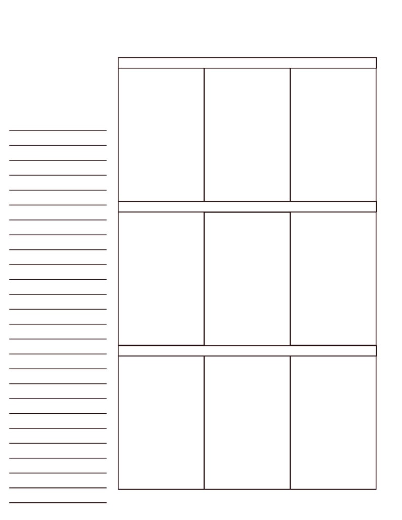 BIG Hapy Planner BLANK Pages