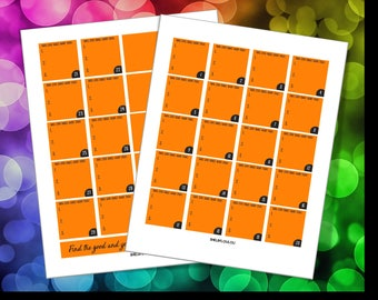 Big Happy Planner Monthly Layout - Journaling, 3 Good Things Daily (Orange)