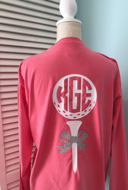 Golf Shirt with Monogram Monogrammed Golf T-shirt T-shirt | Etsy