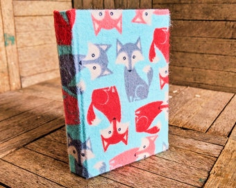 Small Fuzzy Fox Book with 110 lined pages