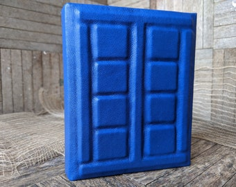 TARDIS Dr. Who River Song Journal with Blue Leather, Medium Book 110 lined pages