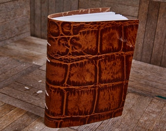 Tan Leather Medium Book 112 Blank Pages