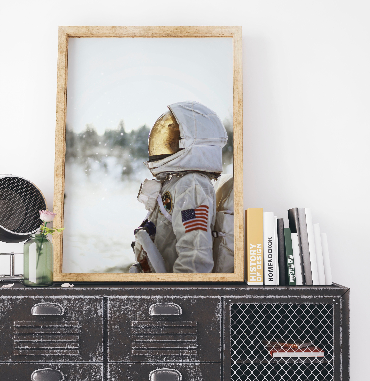 Astronaut Nursery Boys Room Printable, Apollo Space Art, Outer Space, NASA  Digital Download, Printable Wall Decor, Space Suit Astronaut Art