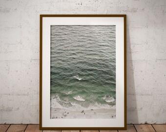 Ocean Beach Water Wall Art, Printable Modern Beach Print, Sand, Waves, Abstract Color Photo, Costal Print, Nautical Decor, Ocean Print Decor