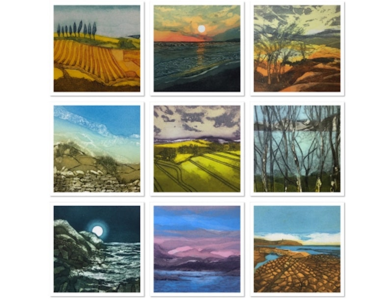LUCKY DIP  10 Greeting Cards from original artwork by Sarah image 0